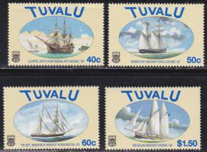 Tuvalu # 768-771, Sailing Ships, NH, low value has crease, NH, 1/3 Cat.
