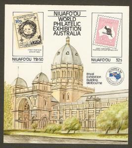 Tonga - Niuafo'ou #50 NH Ausipex Stamp Exhibit. SS