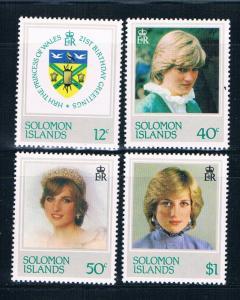 Solomon Islands 471-74 MNH set Princess Diana Issue 1982 (S0996)