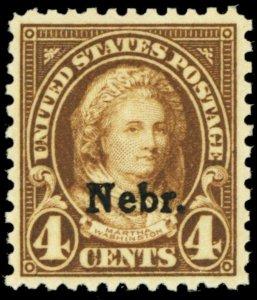 673, Mint VF NH 4¢ Nebraska Stamp - Stuart Katz