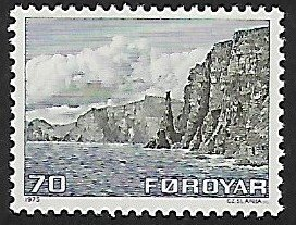 Faroe Islands # 11 - Coast of Sandoy - MNH -