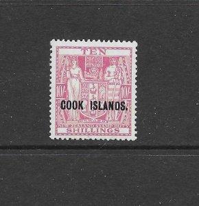 Cook Islands 105 1936 10/- Mint OG HR Retail $92.50