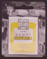 Scott Mounts Black 31/41, U.S.Semi-Jumbo (pkg 40) (00906B)