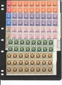 B.O.I.C.-SOMALIA SGS1/8 1943 SET TO 1/= MNH BLOCKS OF 24