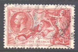 GB Scott 223 - SG451, 1934 Re-engraved 5/- Seahorse used