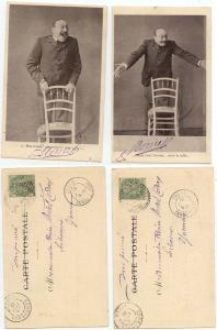 France - Two 1901 Post Cards to Serbonnes Cancels