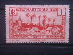 MARTINIQUE, 1933, MH 1c, Village of Basse-Pointe Scott 133