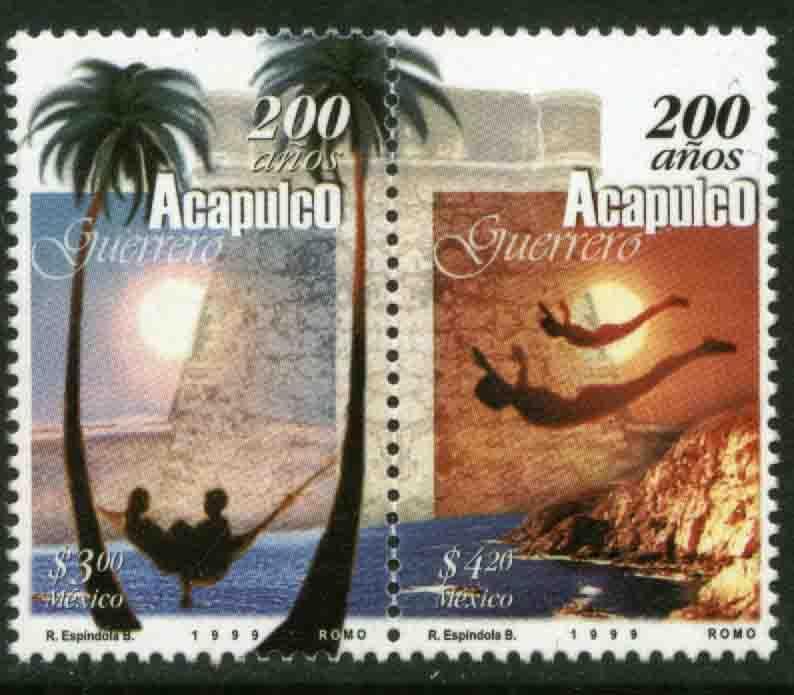 MEXICO 2116a, Acapulco, 200th Anniv se-tenant pair. MINT, NH. VF. (69)