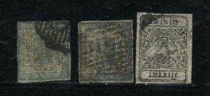 Nepal #10,13,17   Used 1898-1917 PD