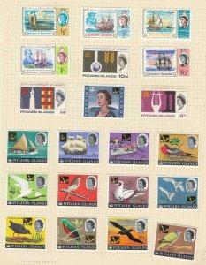 PITCAIRN ISLANDS (MK6050) # 64-83 VF-MH 1966-67 UNESCO /SHIPS /BIRDS CAT VAL $31