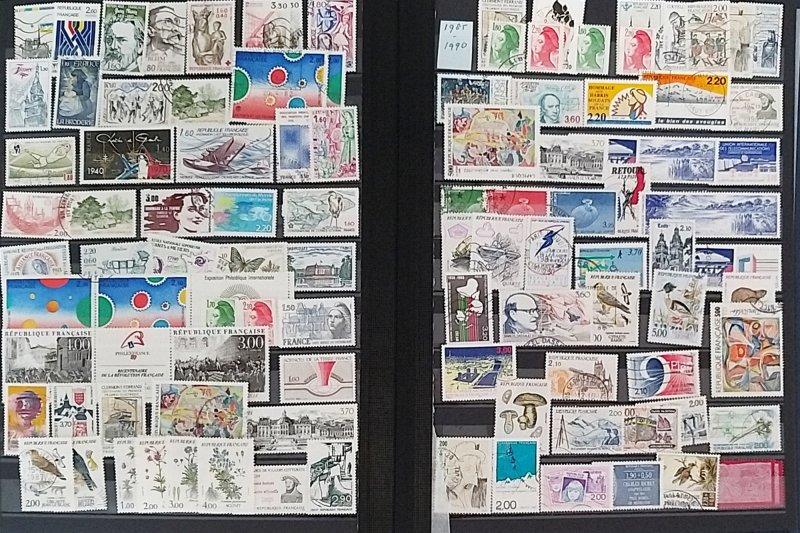 Lot France 104 stamps used/unused