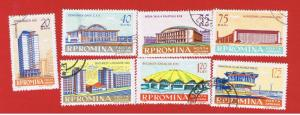 Romania #C112-C118 VF used  Airmail Full Set  Free S/H