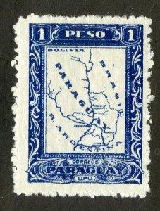 PARAGUAY 254 MH BIN $.40