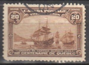 Canada #103 VF Used with CDS Cancel C$300.00 ++