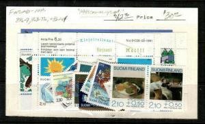 Finland Scott 846-7,863-77a,B244 Mint NH (1991 Comm. Year Set) - CV $42.90