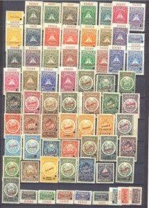 Nicaragua 66 mint values pre-1940,specimens