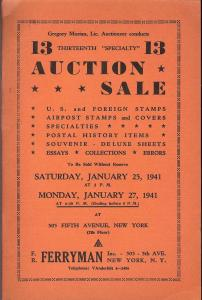 Ferryman: Sale # 13  -  U.S. & Foreign Stamps, Airpost St...