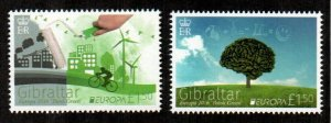Gibraltar #1551-1552  MNH  Scott $8.50