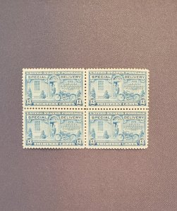 E17, Special Delivery, Block of 4, Mint OGNH, CV $5.00