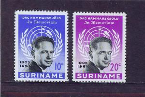 SURINAM/SURINAME 1962 MNH SC.301/02 Dag Hammarskjold,Secretary General UN