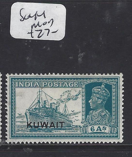 KUWAIT  (P0609BB)  ON INDIA  KGVI   6A  BOAT  SG 44   MOG