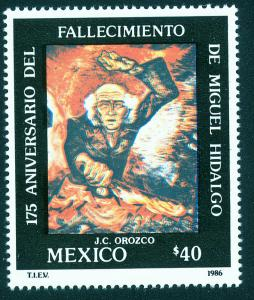 MEXICO 1448, 175th Death Anniversary of Miguel Hidalgo. MINT, NH. VF.