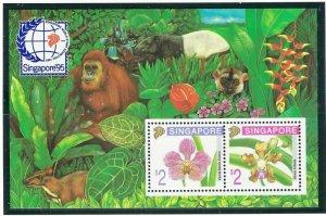 Singapore 717b MNH 1995 Flowers S/S (ap6887)