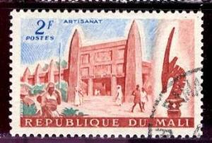 Mali; 1961: Sc. # 18: O/Used CTO Single Stamp