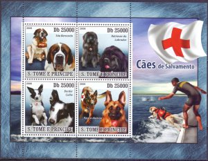 Sao Tome and Principe. 2008. 3659-66. Dogs. MNH.