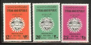 Syria  Scott C327-C329 MNH** 1964 Arab Postal Union stamp set