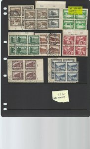 Germany Semi-Postals in 13ea Used Blocks of Four B93-100