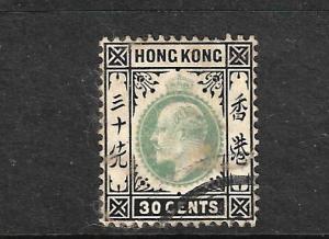 HONG KONG 1904  30c KEVII  FU   SG 84