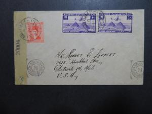 Egypt 1944 Censor Cover to USA - Z10147