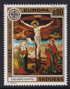 Andorra French    #236  cancelled  1975  Europa  80c