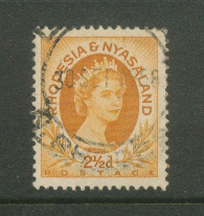 Rhodesia & Nyasaland  SG 3a   Very Fine Used