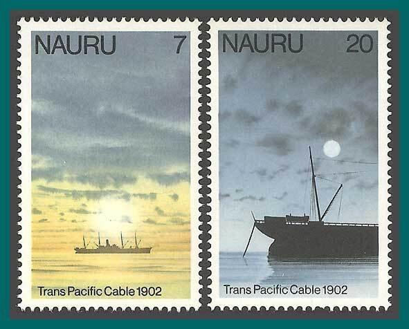 Nauru 1977 Telecomm, Ships, MNH 152154,SG161,SG163