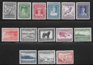 Newfoundland Scott Number 253-266 F/FVF NH Waterlow Printing