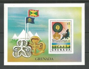 1976 Scout Girl Guides Grenada 50th anniversary SS