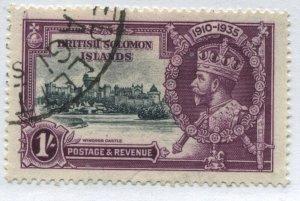 Solomon Islands KGV 1935 1/ Silver Jubilee used