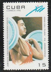 1995 Cuba Stamps Sc 3625 Juegos Deportivos Panamericanos Weight Lifting MNH
