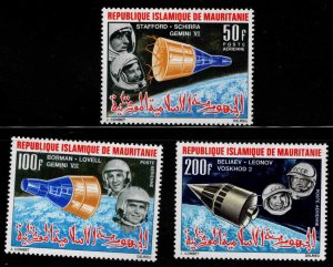 Mauritania Scott C48-C50 MH* Gemini Space stamp set