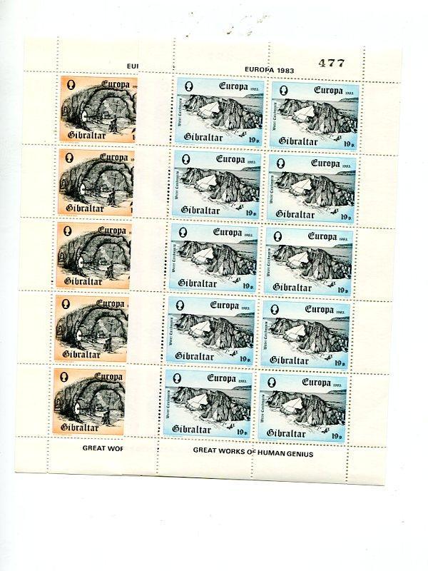 Gibraltar 1983  mini sheets . Mint   VF NH