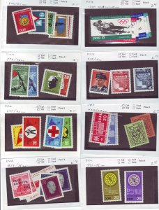 Z643 JL stamps germany DDR mnh with sets on sales cards, been checked & sound