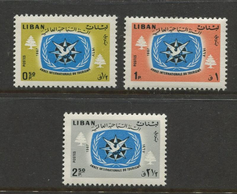 Liban - Scott 448-450 - General Issue -1968 - MNH - Short Set of 3 Stamps