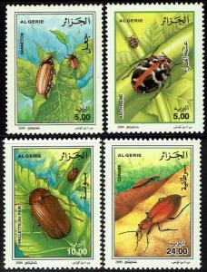 Algeria #1194-97  MNH - Insects Beetles (2000)