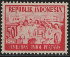 INDONESIA, 412, MNH, 1955, VOTERS