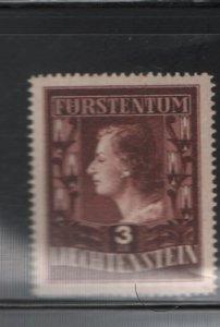 LIECHTENSTEIN 260A Hinged, 1951 Types of 1944 Redrawn
