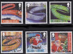 Gibraltar 1999, Christmas,  MNH  # 822-827