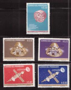 Paraguay Scott 814-818 MH* space stamp