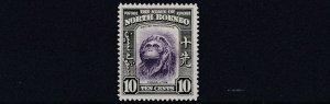 NORTH BORNEO  1939  S G 309  10C    VIOLET & GREEN        MH